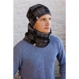 Мужской комплект «Чез» (шапка + шарф-хомут)