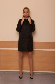 Пальто демисезонное Декка черное 48р