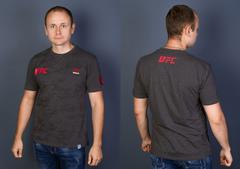 """Футболка Мужская 4505 """"17161 RB-UFC"""" Темно-Серая"""