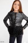 Кожаная демисезонная куртка для девочки