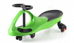 Машинка детская с полиуретановыми колесами  зеленая «БИБИКАР