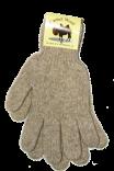 Перчатки из верблюжьей шерсти светлые