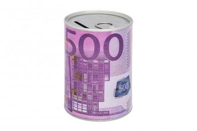 """Копилка - банка 7,6*7,6*11 см """"Евро"""" металл"""