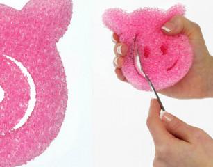 Универсальная губка скраб Hog Wash Scrubber 3 шт.