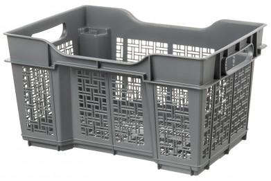 Ящик универсальный 16 л 40*30*22 см (серый) (модель - 1716/0