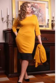 """Платье """"Марика"""" горчица"""