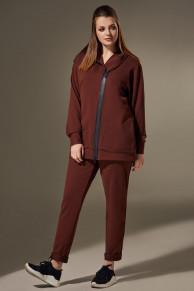 брюки, толстовка Andrea Style Артикул: 00299 шоколад