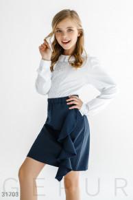 Детская юбка с воланом