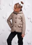 Куртка Женева бежевая подросток 000349