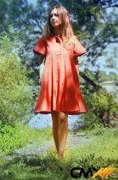 Платье оранж