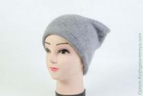 Женская шапка H9509-1A (ангора) Серая