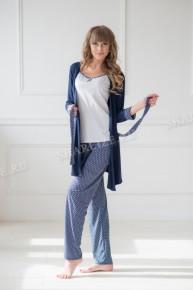 Комплект тройка (майка+халат+брюки)