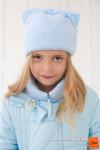 Шапка Ушки детская голубая