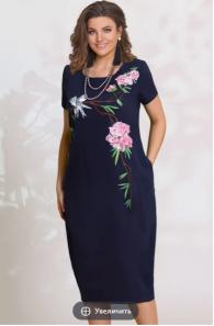 Платья Модель 7933/1 тёмно-синий VITTORIA QUEEN      Произво