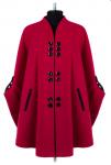 01-7168 Пальто женское демисезонное Кашемир Вишня