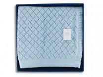 40154 GIPFEL Плед SKY, 130 x 170 см, голубой, 100% хлопок.