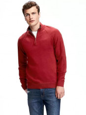 Mock-Neck 1/4-Zip Pullover for Men