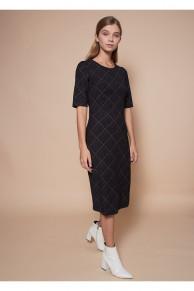 100456 Платье (VEREZO)Черный/бежевый
