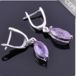 Серьги серебро с аметистом Родник ссНАМ-8457 Артикул: ссНАМ-