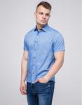 Дизайнерская рубашка молодежная Semco синяя модель 20433 169