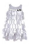 Biscotti - Platinum Petals Petal Dress in Silver - Size 10