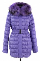 05-0889 Куртка зимняя (пояс) Плащевка Ярко-сиреневый