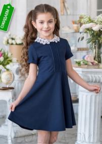 В*альс Школьное платье т-синее