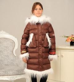 Зимняя куртка для девочки «Лаура» (размер 36-40)