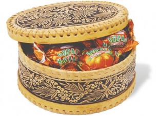 Курага КРЕМЛИНА шоколадная в берестяной шкатулке, 300г