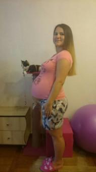Фото животиков на 35 неделе беременности