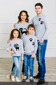 "Комплект мама+папа+дочка+сын ""CAT"""
