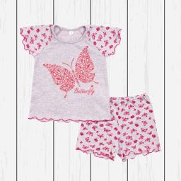 Пижама для девочки (кулирка)_бабочки
