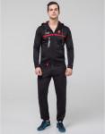 Брендовый спортивный костюм Bikk черно-красный модель 387