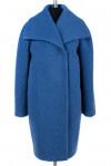 09-2176 Пальто женское демисезонное Букле Голубой
