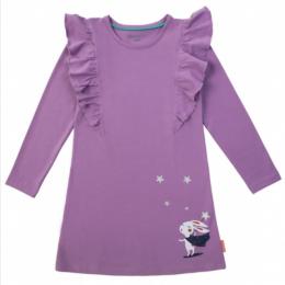 Сиреневое платье для девочки с зайцем