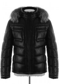 Мужская зимняя куртка из PU-кожи BD-1682