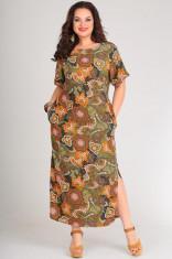 Платья Модель 00149 огурцы+зеленый Andrea Style      Произво