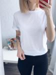 Однотонная женская футболка 2035 Белая