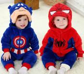 Кигуруми пижама зверь Человек-Паук и Капитан Америка