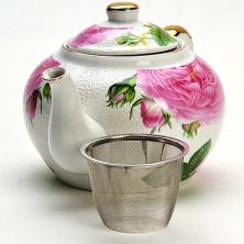 21127 Заварочный чайник 1л керамика ПИОНЫ МВ (х12)