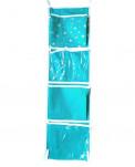 Кармашки для шкафчика, 5 отделений, зеленый, 72*20 см