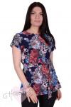 Блуза Ф 214/1 (розы-пиксели)