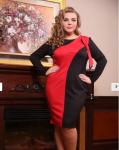 """Платье """"Пиони"""" красный"""
