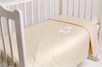 Постельное бельё в кроватку Мишка с бантиком