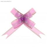 """Бант-бабочка №1,8 """"Серебро"""", цвет фиолетовый"""