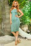 Платье с принтом 13639