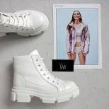 "Ботинки ""мартинсы"" из белой кожи. Collection AW 20/21"