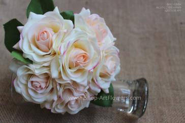 Букет из открытых роз, 6 шт. (шампань)