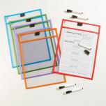 Набор Папки для занятий «Пиши и стирай» 6 штук + маркеры