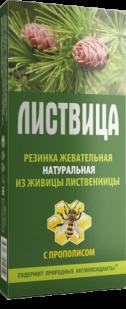 """Жевательная резинка""""Листвица"""" с прополисом 4 шт по 0,8 гр."""